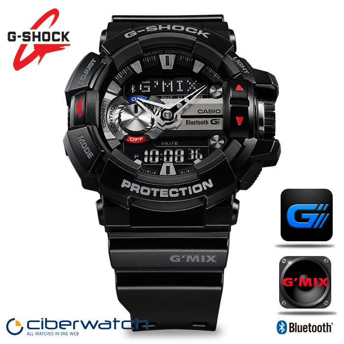 cffb9e9b284 Casio G-Shock G Mix Music Watch GBA-400-1AER with Bluetooth   Man ...