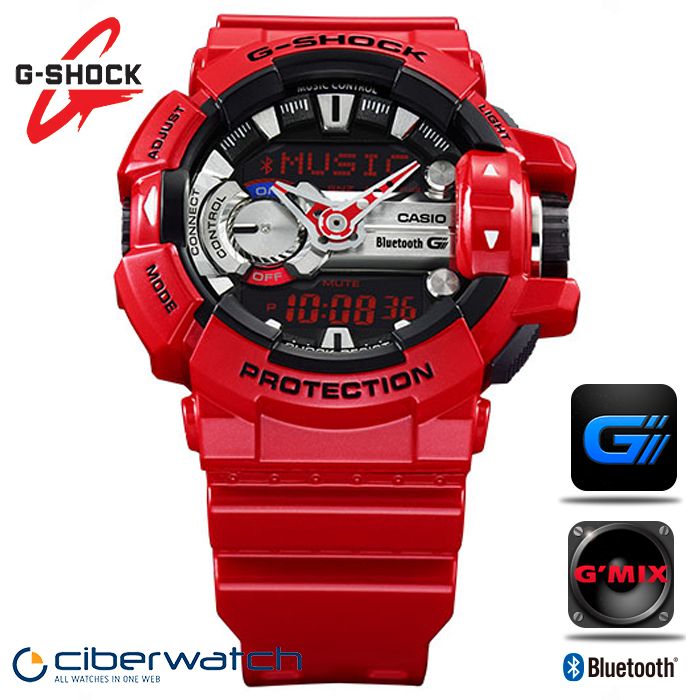 Casio G Shock G Mix Music Watch GBA 400 4AER with Bluetooth