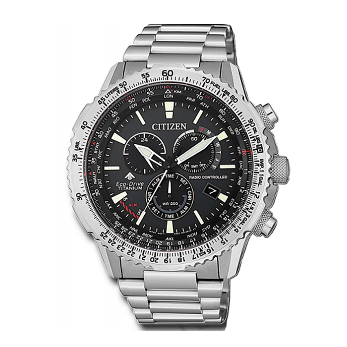 9f4e6d0cd880 Citizen Eco-Drive CB5010-81E Super Titanium Promaster Pilot Radiocontrolado  Men´s Watch   Man Watches
