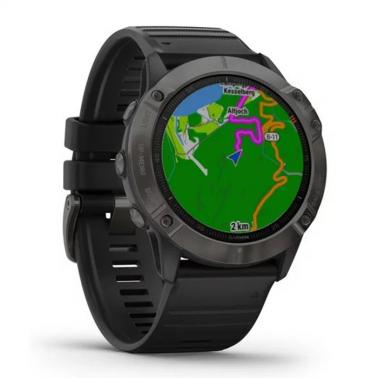 Garmin Fenix 6X Saphire Carbon Grey DLC with Black Bracelet 010-02157-11