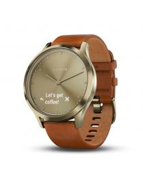 Garmin Vivomove HR Premium Light Brown Leather Band