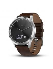 Garmin Vivomove HR Premium Dark Brown Leather Band