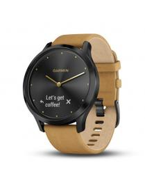 Garmin Vivomove HR Premium Black Light Brown Leather Band
